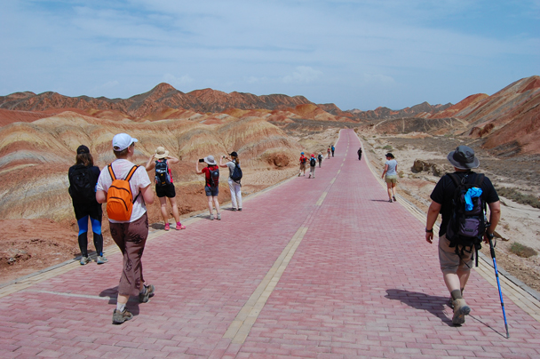 Heading further into the park - Zhangye Danxia Landform and Jiayuguan, Gansu Province, May 2014