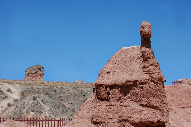 Does this rock look like a camel? - Zhangye Danxia Landform and Jiayuguan, Gansu Province, May 2014