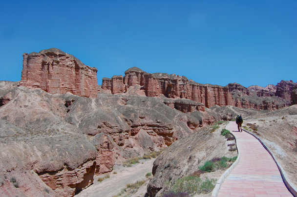 We hiked further into the park area - Zhangye Danxia Landform and Jiayuguan, Gansu Province, May 2014