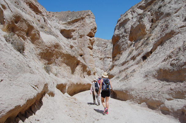 We hiked out through a long canyon - Zhangye Danxia Landform and Jiayuguan, Gansu Province, May 2014