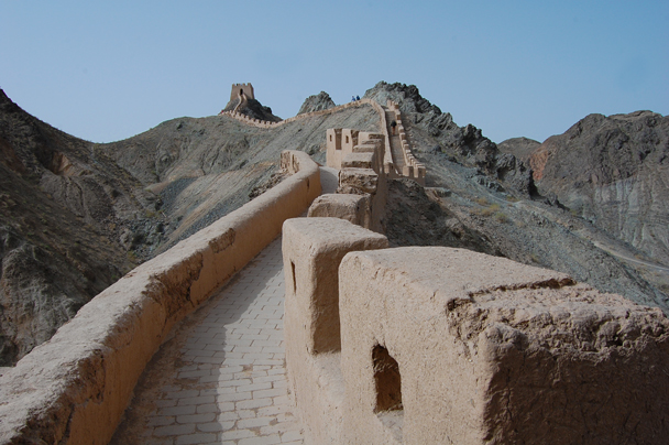 Back at Jiayuguan, we took a look at a stretch of Great Wall that has been repaired in the original Han Dynasty style - Zhangye Danxia Landform and Jiayuguan, Gansu Province, May 2014
