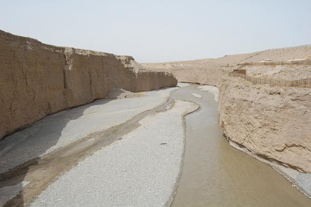 A view of the riverbed - Zhangye Danxia Landform and Jiayuguan, Gansu Province, May 2014