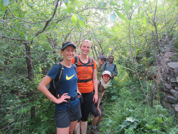 The trail took us through a leafy valley - Camping at the Gubeikou Great Wall, May 2014