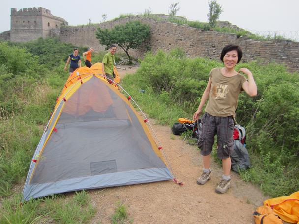 Tents looking good - Camping at the Gubeikou Great Wall, May 2014