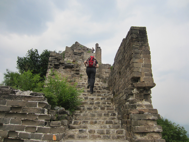 We continued hiking along the Great Wall on the second day - Camping at the Gubeikou Great Wall, May 2014