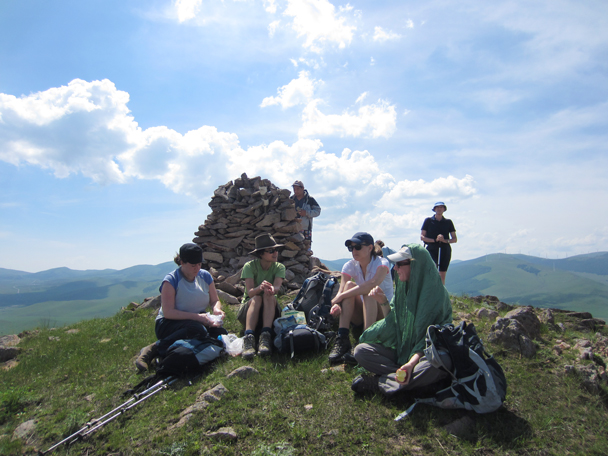 Atop the tallest hill was a cairn of rocks -  Bashang Grasslands trip, 2014/7