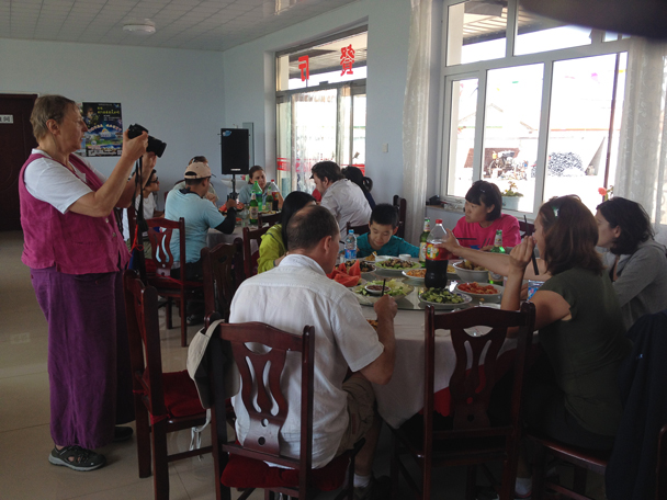 Lunchtime at the guesthouse - Bashang Grasslands trip, 2014/06