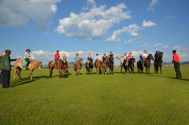 Our horseriding crew! - Bashang Grasslands trip, 2014/06