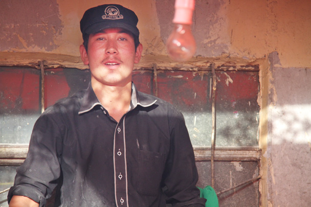 We met this man at a market - Along the Silk Road from Korla to Kashgar, 2014/06