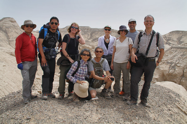 The hiking team in the Yardang Landform, somewhere between Korla and Kashgar! - Along the Silk Road from Korla to Kashgar, 2014/06