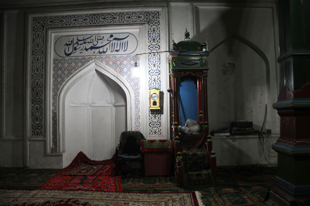 Inside the mosque - Along the Silk Road from Korla to Kashgar, 2014/06
