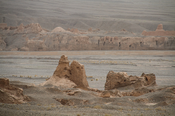 Subashi ruins - Along the Silk Road from Korla to Kashgar, 2014/06
