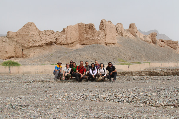 Team photo! - Along the Silk Road from Korla to Kashgar, 2014/06