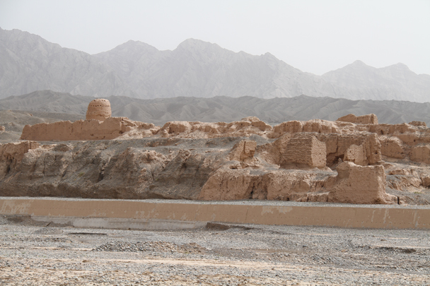 A different angle of the main area of the ruins - Along the Silk Road from Korla to Kashgar, 2014/06