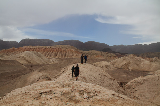 We hiked along the ridgelines - Along the Silk Road from Korla to Kashgar, 2014/06