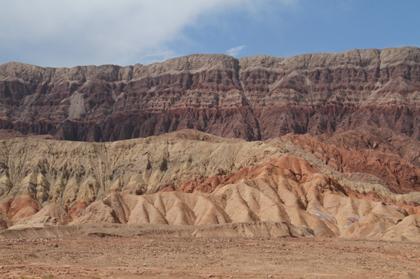 More colourful hills - Along the Silk Road from Korla to Kashgar, 2014/06