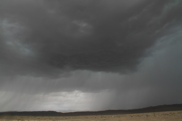 A much-needed rainstorm in a very dry area of the world - Along the Silk Road from Korla to Kashgar, 2014/06