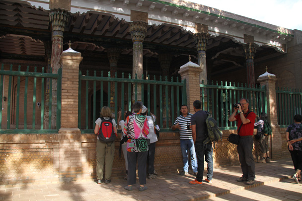 We're about to visit the Tomb of the Fragrant Concubine - Along the Silk Road from Korla to Kashgar, 2014/06
