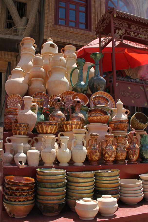 Ceramic jars and pots in the old city of Kashgar - Along the Silk Road from Korla to Kashgar, 2014/06