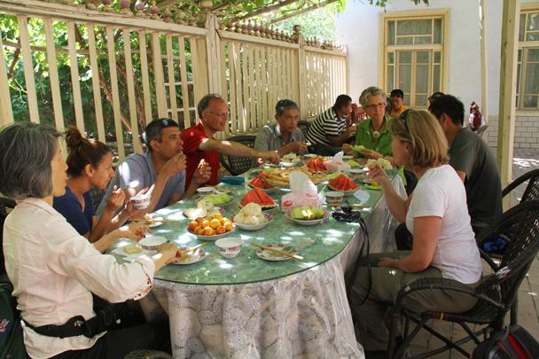 Plenty of food! - Along the Silk Road from Korla to Kashgar, 2014/06