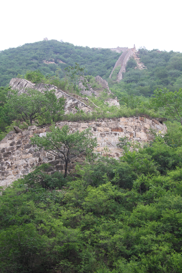 Nearby the campsite, a line of Great Wall winds its way up the hillside, looking like a giant snake - School Camping trip, 2014/6