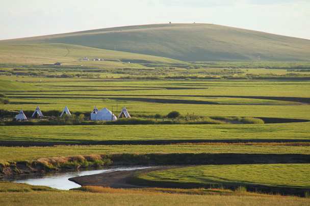 Yurts by the river - Hulunbuir Grasslands, Inner Mongolia, 2014/07