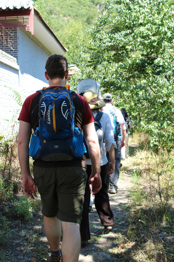 And we're off hiking - Zhuangdaokou Great Wall to the Walled Village, 2014/07/12