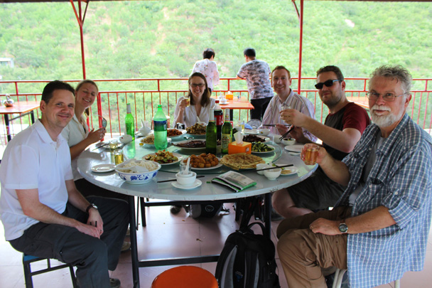 And after the hike, a delicious meal at our favourite local restaurant - Zhuangdaokou Great Wall to the Walled Village, 2014/07/12