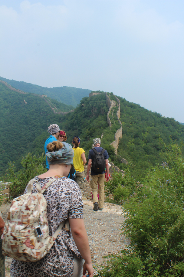 The hike took us further along this stretch of unrenovated 'wild' Great Wall - Great Wall Spur Camping, July 2014