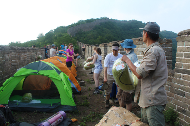 Pass it on! - Great Wall Spur Camping, July 2014