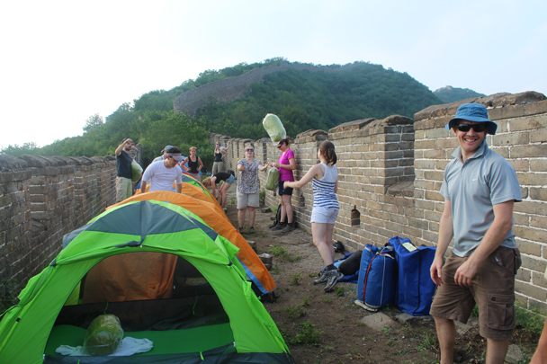Good teamwork - Great Wall Spur Camping, July 2014
