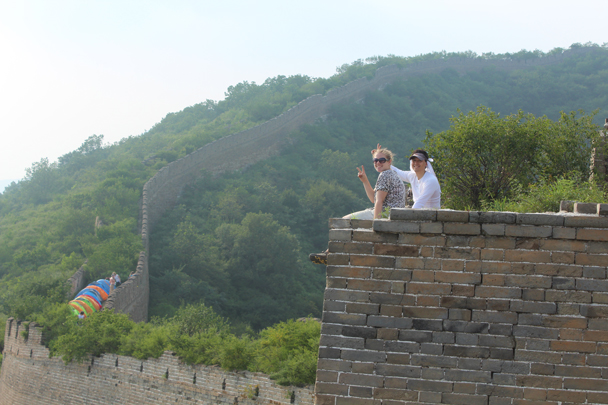 Taking a break near the campsite - Great Wall Spur Camping, July 2014