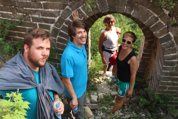 Exploring the Great Wall near our campsite - Great Wall Spur Camping, July 2014