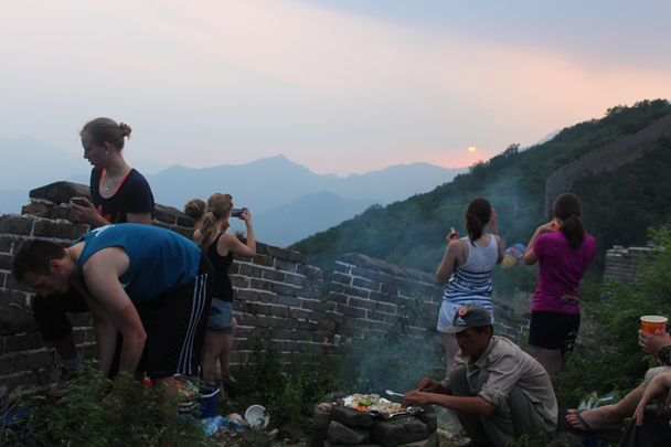 Watching the sun set - Great Wall Spur Camping, July 2014