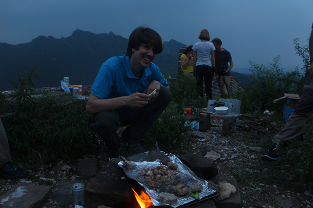 Food is almost ready - Great Wall Spur Camping, July 2014