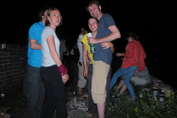 After the sun set it got dark quite quickly – still hot, though! - Great Wall Spur Camping, July 2014