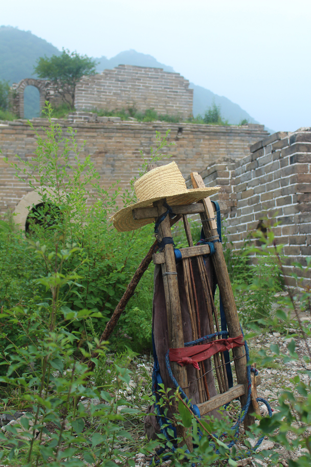 An old-school backpack - Great Wall Spur Camping, July 2014