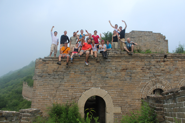 The happy hiking team - Great Wall Spur Camping, July 2014