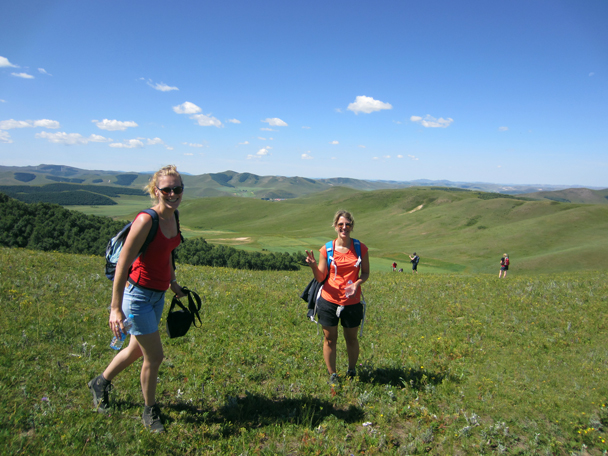 We hiked up into the hills - Bashang Grasslands trip, August 2014