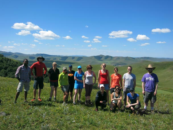 A photo of the hiking team - Bashang Grasslands trip, August 2014