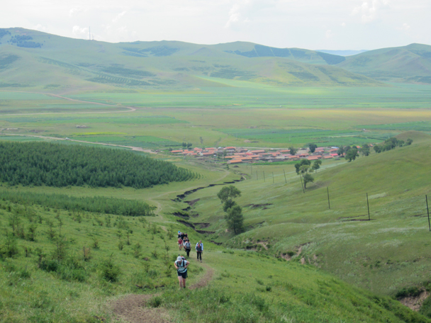From the village we hiked up and over another ridge - Bashang Grasslands trip, August 2014