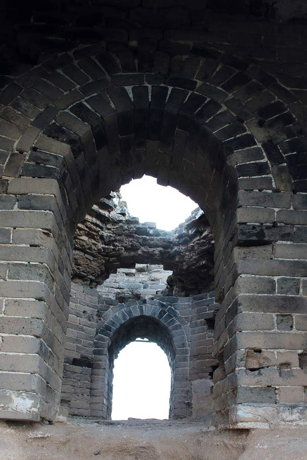 An unusually constructed tower, with an octagonal inner room and an arched ceiling - Gubeikou Great Wall, 2014/09/06