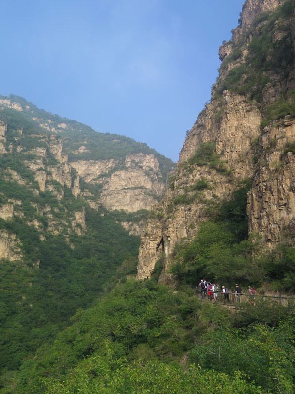 The trail passed below the trunk of Elephant Rock - Ming Village overnight, September 2014