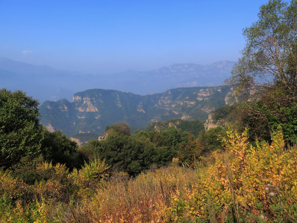 A good view from high up in the hills - Ming Village overnight, September 2014