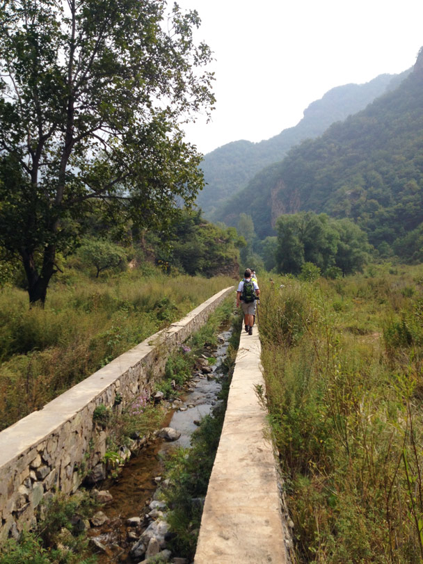 An irrigation canal near the top of Dragon Gate Gorge - Ming Village overnight, September 2014