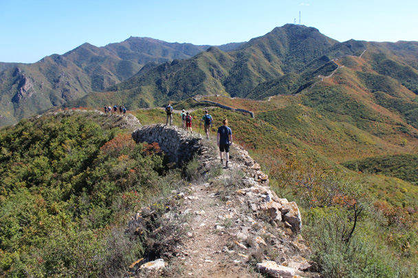 We're getting closer to the antenna - Yanqing Great Wall and High tower, 2014/09/27