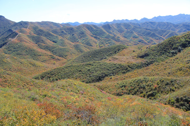 More of the colours in the hills - Yanqing Great Wall and High tower, 2014/09/27