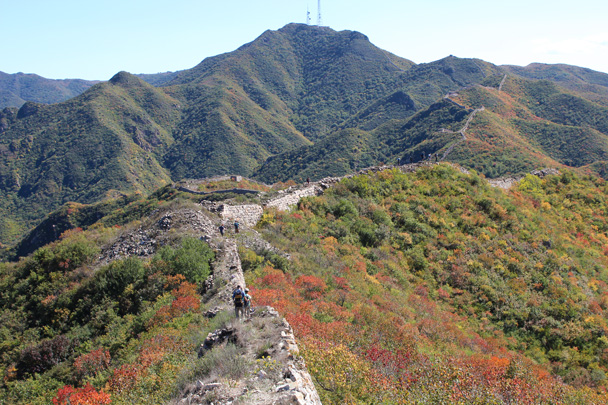 We kept walking along the wall - Yanqing Great Wall and High tower, 2014/09/27