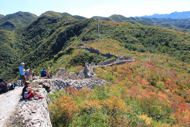 Finally, lunch time - Yanqing Great Wall and High tower, 2014/09/27