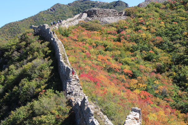 And then on again, not quite at the halfway point of the trail - Yanqing Great Wall and High tower, 2014/09/27